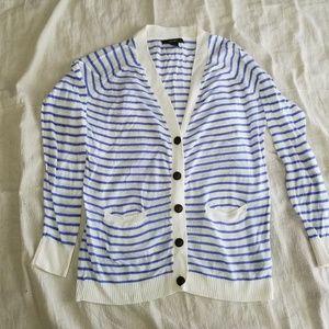 Forever 21 Small Striped Cardigan Vneck pockets
